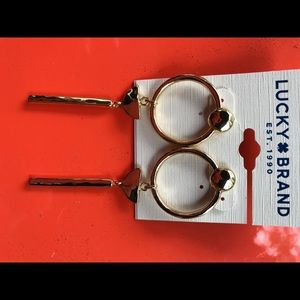 Lucky Brand linear hoop earrings